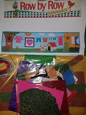 2016 Row By Row Quilt Kit Pattern Fabric Dog House Clothesline PRE-CUT KIT