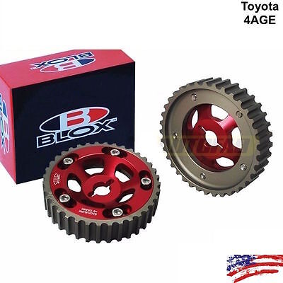 Aluminum Cam Gears Pulley for 84-89 Toyota Corolla AE86 4AGE 16v DOHC OE