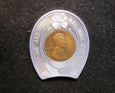 1941-D Lincoln Wheat Encased Cent Penny Worcester Federal Savings