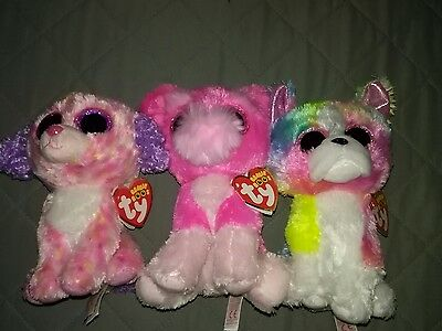 TY Beanie Boo lot - Claire's Store Exclusives - Cherry, Isla & London