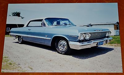 Photo Vintage 1963 Chevy Impala Sport Coupe Near Chateaugay In Ny 2002