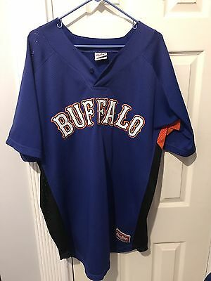Buffalo Bisons Jersey Game Used Size 50 XL NY Mets Minor League Team