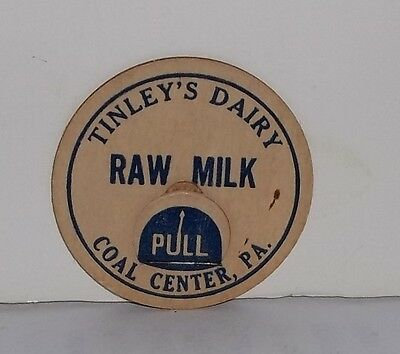 Tinley's Dairy Coal Center PA. Raw Milk Cap