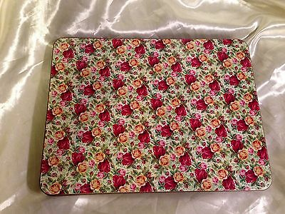 Vintage Shabby Chic Set x 6 Cork Backed Placemats with All Over Roses