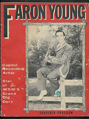 1954 FARON YOUNG Souvenir Program Photgraphs & Bio COUNTRY MUSIC GRAND OLE OPRY