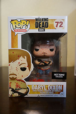 Funko Pop Television 72 The Walking Dead AMC Daryl Dixon Poncho Bloody Hot Topic