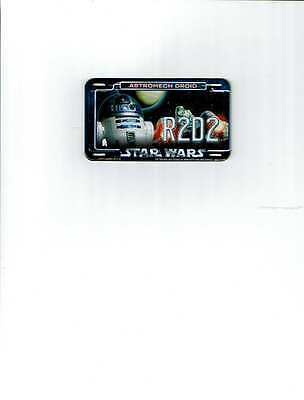 2011 Topps Power Plate Star Wars Astromech Droid R2D2 Metal Magnetic License