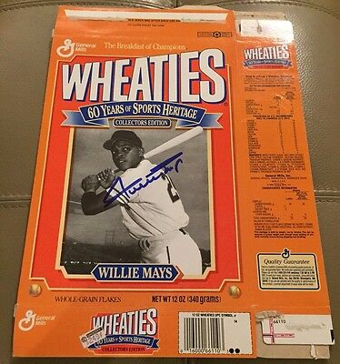 Willie Mays AUTOGRAPHED Wheaties Box Collectors Edition 1992