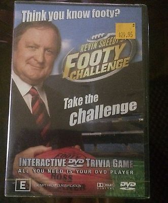 NEW & SEALED - Kevin Sheedy's Footy Challenge AFL Interactive Trivia Game DVD