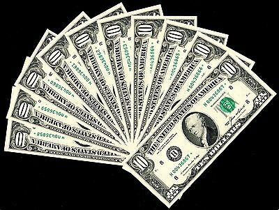 1985 $10 Federal Reserve star Notes 10 Consecutive Uncirculated