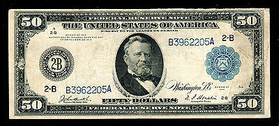 1914 $50 Large Size Federal Reserve Note New York