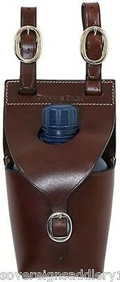 Toowoomba Saddlery Tanami Tack Leather Water Bottle Carrier Single & Bottle
