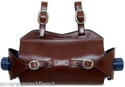 Toowoomba Saddlery Tanami Tack Leather Water Bottle Carrier Double