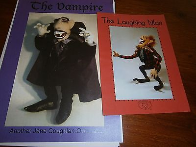 Jan Coughlin's the Vampire,   and Laughing Man  cloth doll pattern