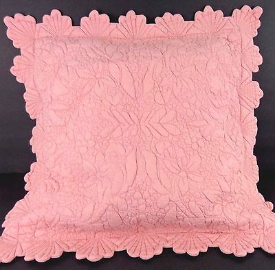"""Dusty Rose Pink Color Matelasee Pillow Sham Only (2 available) 22"""" sq NWOT"""