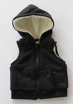 Baby Boys Navy Vest Hood Baby Berry Winter Size 00 3-6mths BNWT Clothing Jacket