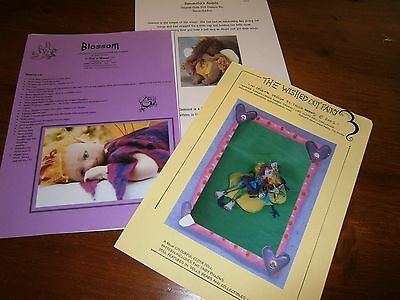 3 cloth doll patterns Ann Clemmens,Samantha-Ann,Tricia Robinz
