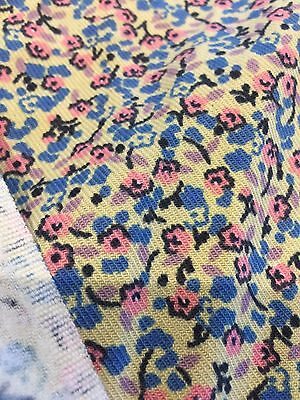Floral Sewing Fabric 5.4m X 0.9m  Free Post