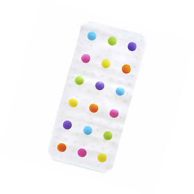 Munchkin Dandy Dots Bath Mat Anti Slip Non Skid Rubber Kids Play Interactive Set