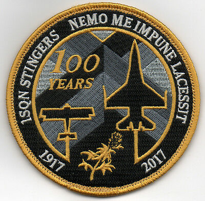 Belgian Air Force 1st Squadron Stingers 100 Years 1917-2017 patch on v/ro