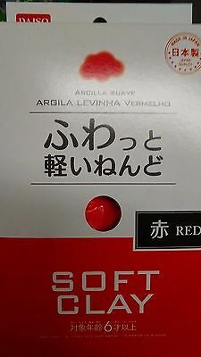 RED DAISO Soft Clay Arcilla Suave Lightweight Made In JAPAN F/S By Air mail