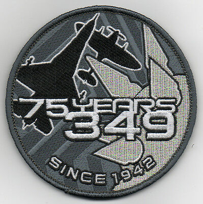 Belgian Air Force 349th Squadron 75 Years 1942-2017 patch on v/ro