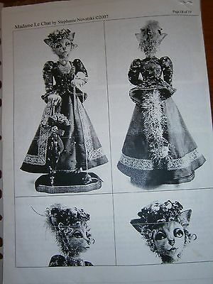 Madam Le Chat by Stephanie Novatski cloth doll pattern