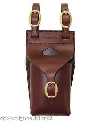 Toowoomba Saddlery Aust Made Leather Water Bottle Carrier Single and Bottle