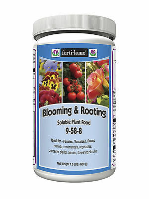 Fertilome Blooming And Rooting 9-58-8 Plant Food 1.5lb