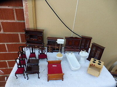 Vintage Antique style   Wooden Dolls House Furniture