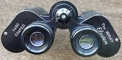 CASED WRAY '' THE WRAY ELEVEN '' 11 x 60 COATED BINOCULARS