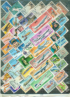 World Collection Of Airplane/ Aeroplane Stamps