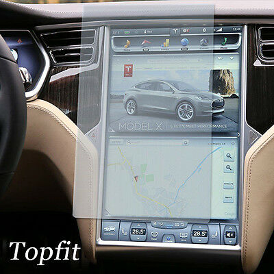 Topfit Tempered Glass Center Touch Screen Protector For Tesla Model S  Model X