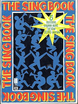 ABC 1990 The SING BOOK Sheet Music Book  80 pages of top fun songs.