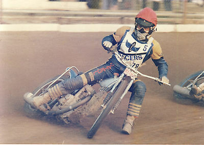 Speedway Photograph-Unkown Reading Rider     (SP062)