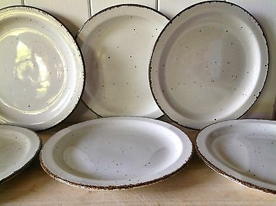 "VINTAGE MIDWINTER STONEHENGE CREATION 9""/22.5cm LUNCH/DINNER PLATES SET SIX"