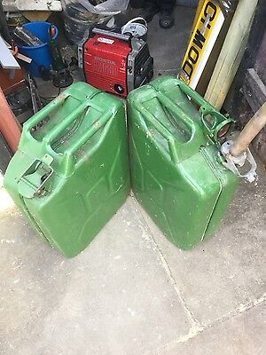 X2 Large jerry cans