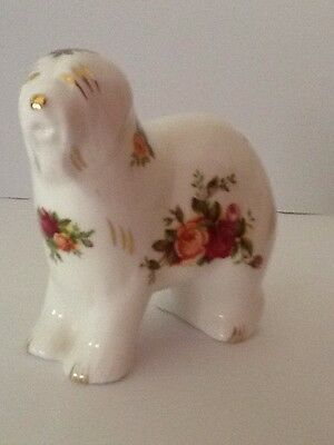 Royal Albert Old Country Roses Sheep Dog - Made In England 1962