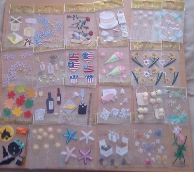 Jolee's Boutique 3D toppers / stickers for card making and scrapbooking
