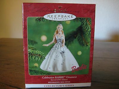 Hallmark Ornament Celebration Barbie Special 2001 Edition