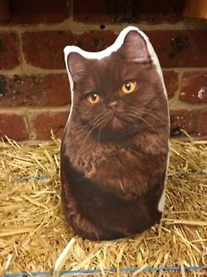 Cat Door Stop - Brown