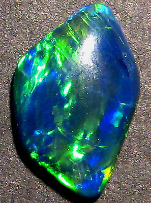 Australian Mintabie Top Grade Crystal Opal Triplet, bright blues and greens