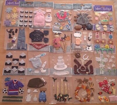 jolee's boutique 3D stickers / toppers for card making and scrapbooking