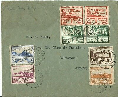 Stamps, Jersey, Good First Day Cover, 29Th June 1943, Pearl Assurance Envelope