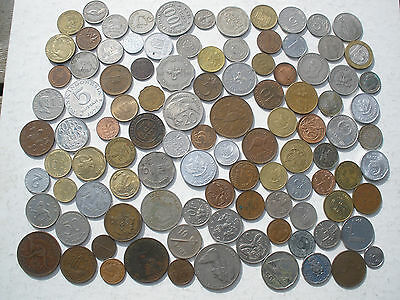 COIN COLLECTION - JUST OVER 100 DIFFERENT COINS - 450g