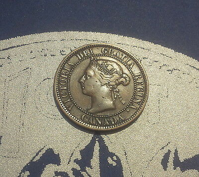 1887 Canada Large One Cent - 1 Penny Coin (P1887-2)