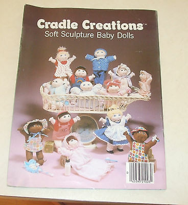 1982 doll sewing pattern, cradle Creations,soft sculpture,pull out patterns