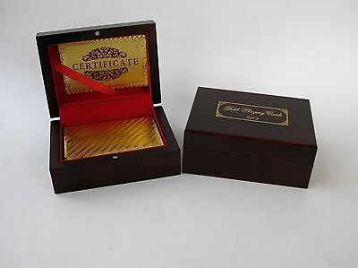 Gold Foil Playing Cards in Presentation Boxes & Certificate x 2 (Used)
