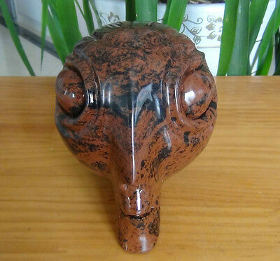 Amazing Red Obsidian Crystal Carved Alien skull Healing