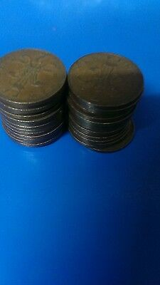 30 2p new pence error coins